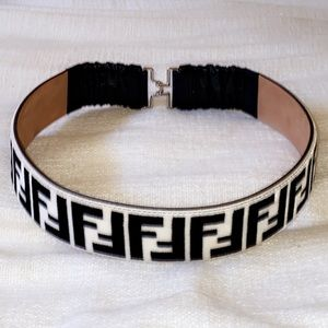 Fendi women's Velvet FF Motif Waist Belt - sz75/30